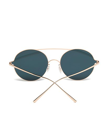 Crossbar Metal Round Mirrored Sunglasses - SHALLOW PINK  Mobile