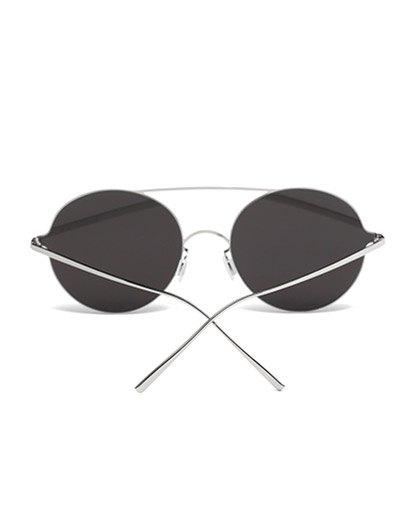 Crossbar Metal Round Sunglasses - GOLDEN  Mobile