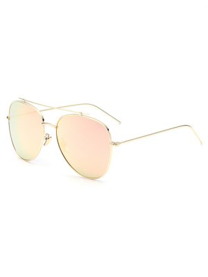 Crossbar Pilot Mirrored Sunglasses - Shallow Pink