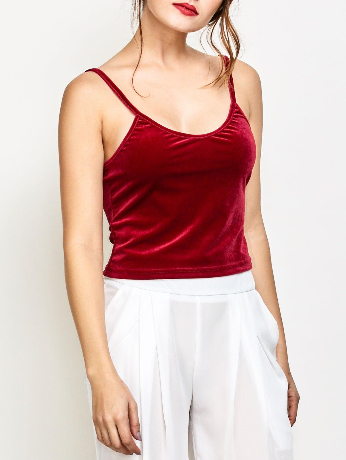 Velvet Camisole Top