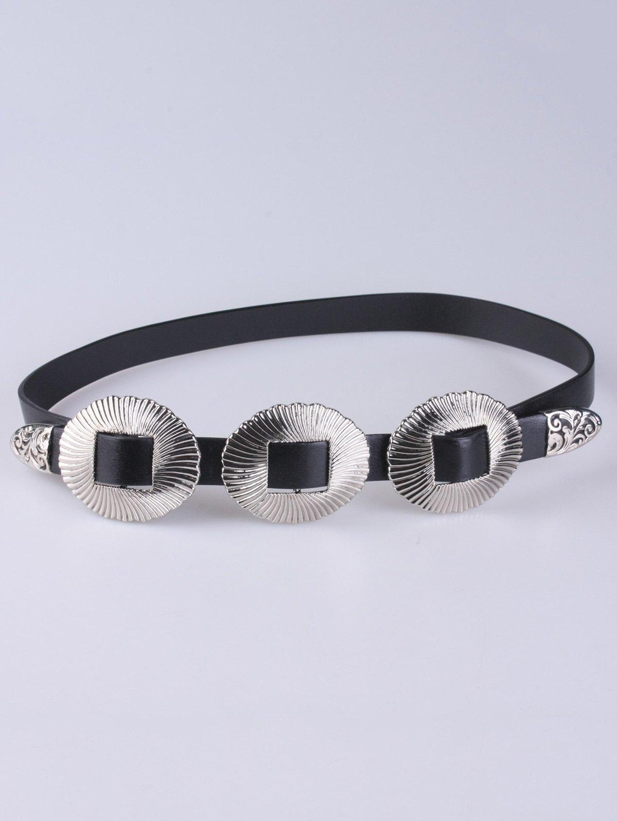 Scallop Faux Leather Belt