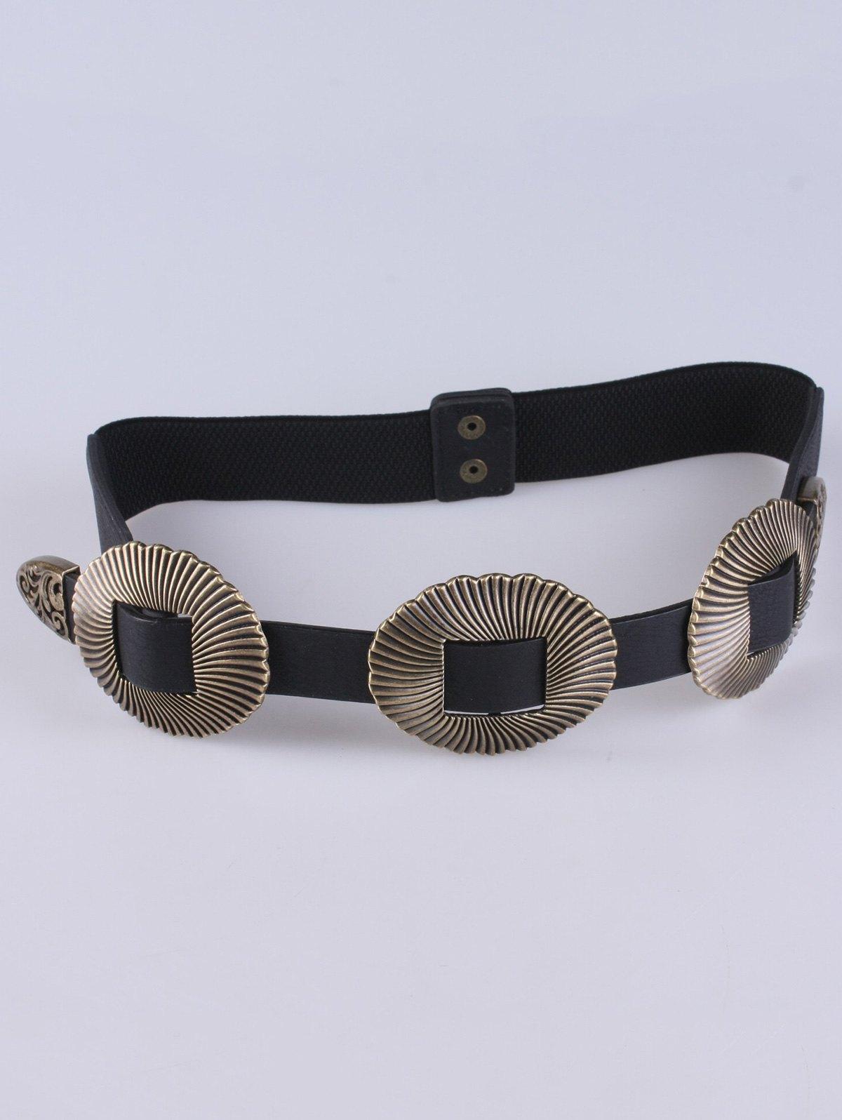 Scallop Faux Leather Elastic Belt