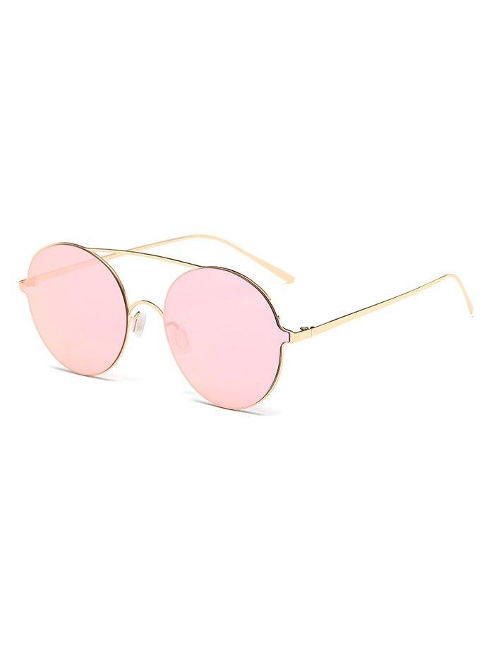 Metallic Round Mirrored Sunglasses