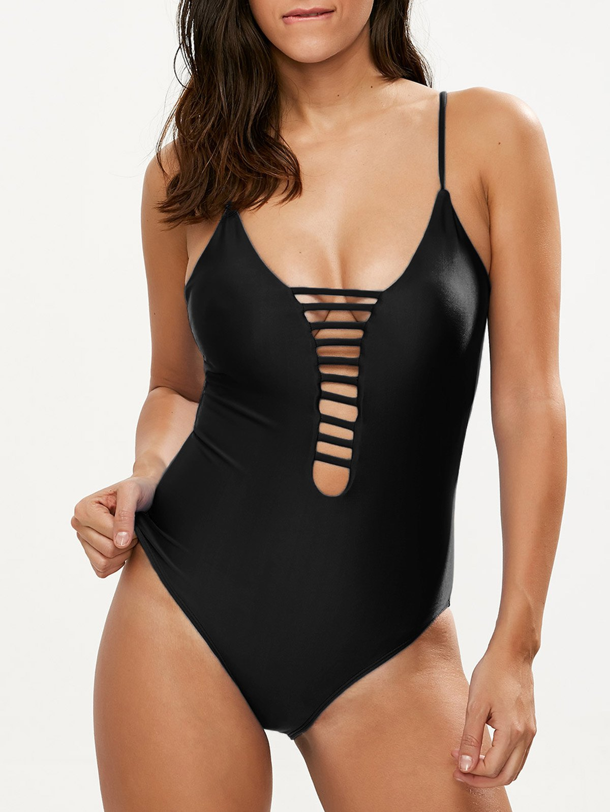 Cut Out One-Piece Swimwear