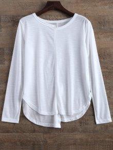 Slit Asymmetrical T-Shirt