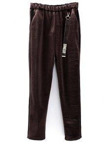 Siness Elastic Waist Velvet Pants