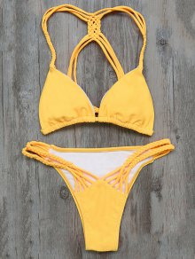 Buy Braided Padded Bikini L YELLOW