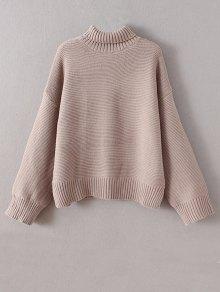 Buy Drop Shoulder Chunky Turtleneck Sweater ONE SIZE LIGHT CAMEL
