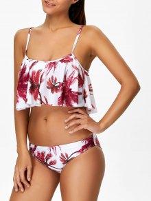 Bikini Imprimé Cocotier Avec Bretelles - Floral