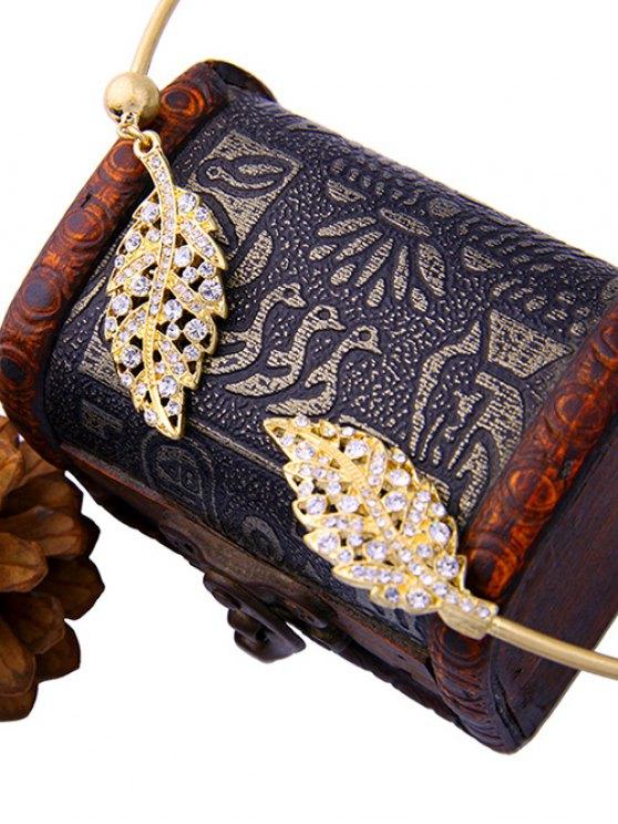 Rhinestone Leaf Torques - GOLDEN  Mobile