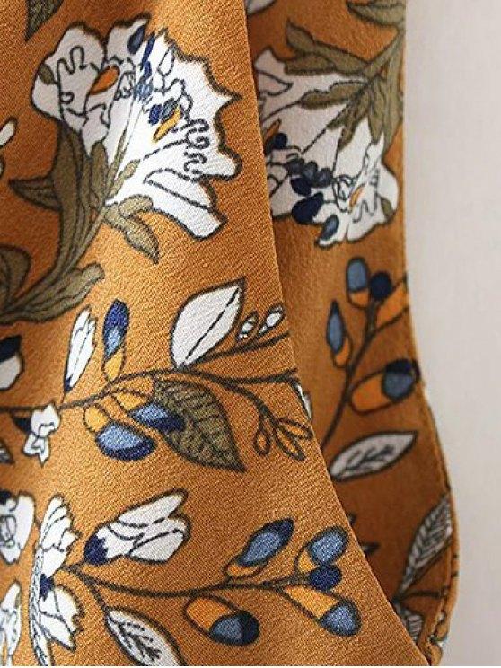 Tiny Floral Slip Dress - YELLOW OCHER L Mobile