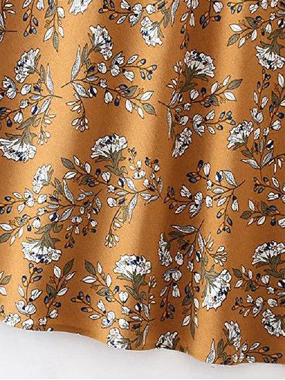 Tiny Floral Slip Dress - YELLOW OCHER M Mobile