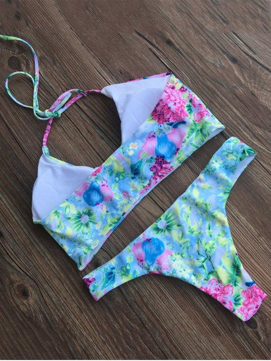 Tiny Floral Padded Bikini Set - FLORAL XL Mobile