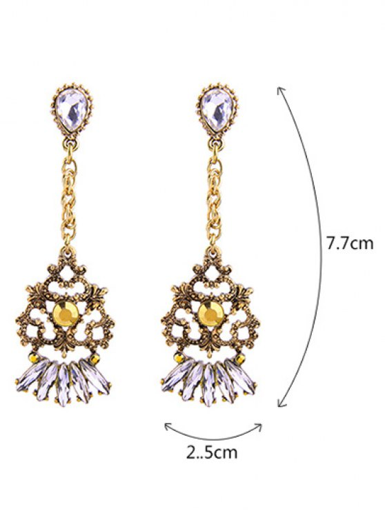 Hollow Out Drop Earrings -   Mobile