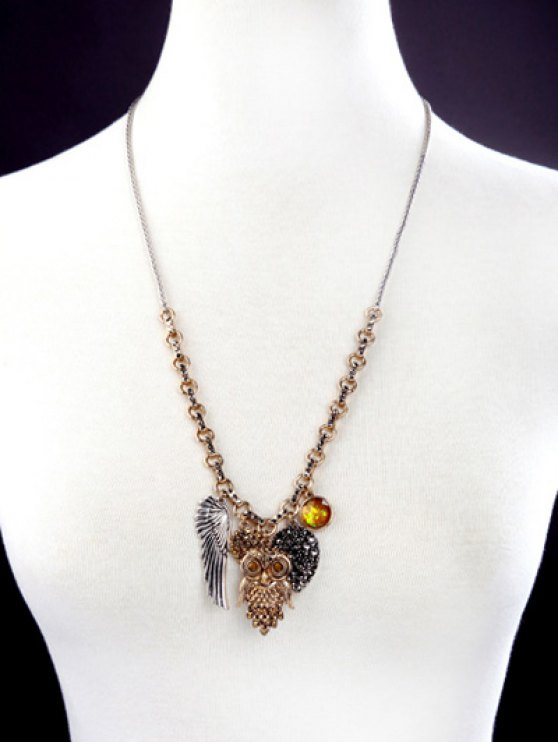 Owl Wing Pendant Necklace -   Mobile