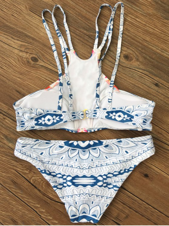 Spaghetti Strap Printed Bikini - COLORMIX M Mobile