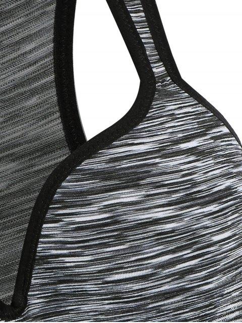 fashion Space Dye Low Impact Sports Bra - GRAY M Mobile