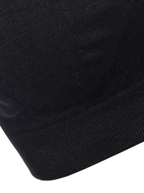 fancy Mid Impact Sport Bra - BLACK XL Mobile