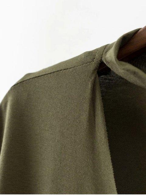 hot Choker Drop Shoulder T-Shirt - CADETBLUE L Mobile
