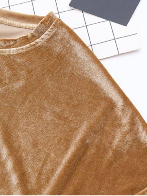 new Velvet Mini Shift Layering Dress - BURGUNDY ONE SIZE Mobile