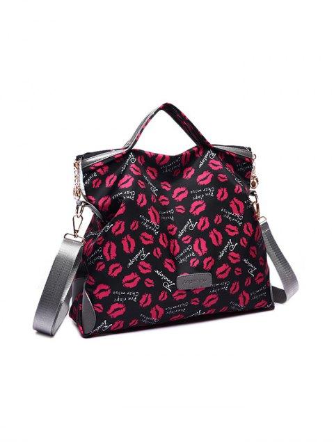 shops Printed Handbag With Coin Purse - BLACK  Mobile