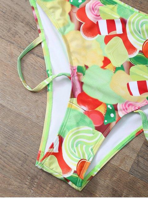 trendy Cutout Printed Bikini Set - YELLOW S Mobile