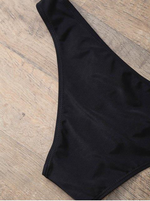 unique Casual Cutout Bikini Set - BLACK S Mobile