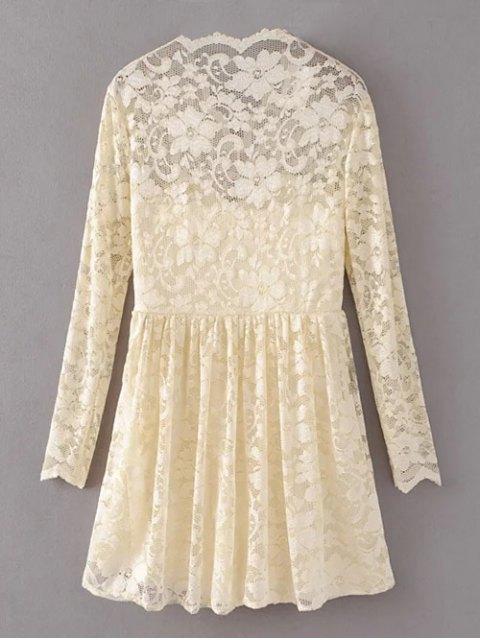 lady Lace V Neck Dress - PALOMINO S Mobile