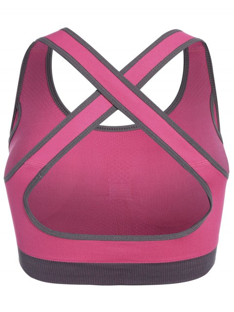 outfit Low Impact Sports Bra - ROSE RED M Mobile