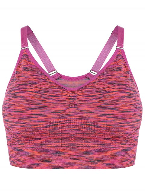 online Longline Heathered Pullover Sports Bra - ROSE S Mobile
