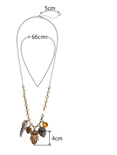 Owl Wing Pendant Necklace - COLORMIX  Mobile