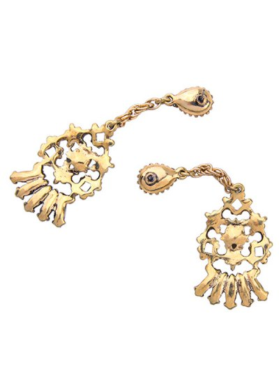 Hollow Out Drop Earrings - GOLDEN  Mobile