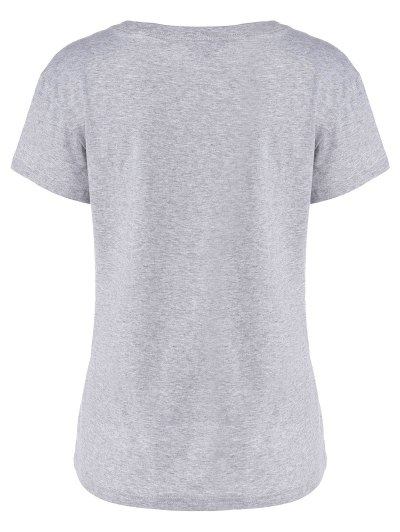 I Want You T-Shirt - GRAY L Mobile