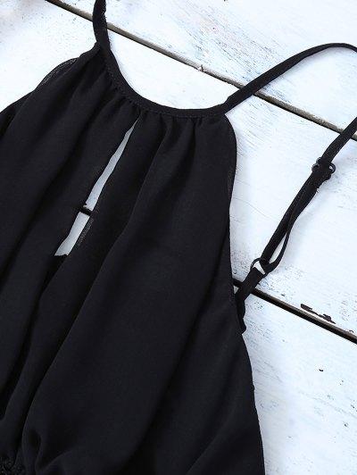 Mesh Panel Camisole - BLACK L Mobile