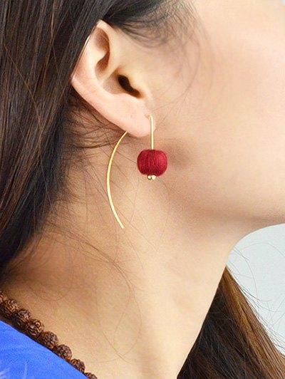 Lantern Drop Earrings - RED  Mobile