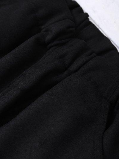 Elastic Waist Layered Wide Leg Pants - BLACK 2XL Mobile