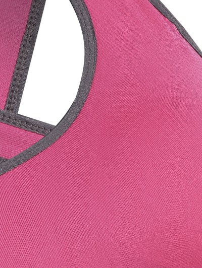 Low Impact Sports Bra - ROSE RED L Mobile