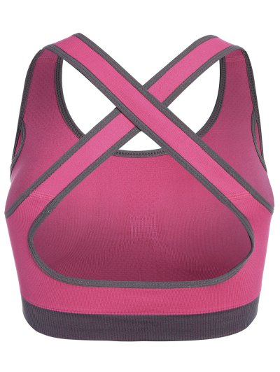 Low Impact Sports Bra - ROSE RED M Mobile
