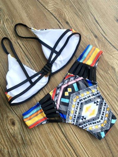 Patterned Padded Bikini - COLORMIX XL Mobile