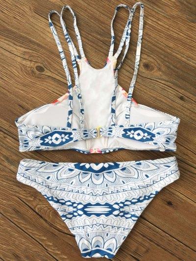 Spaghetti Strap Printed Bikini - COLORMIX XL Mobile