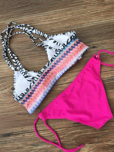 Printed Criss-Cross String Bikini - TUTTI FRUTTI XL Mobile