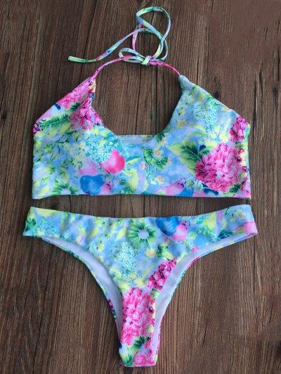 Tiny Floral Padded Bikini Set - FLORAL M Mobile