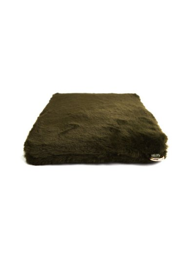 Faux Fur Embossed Panel Clutch Bag - GREEN  Mobile