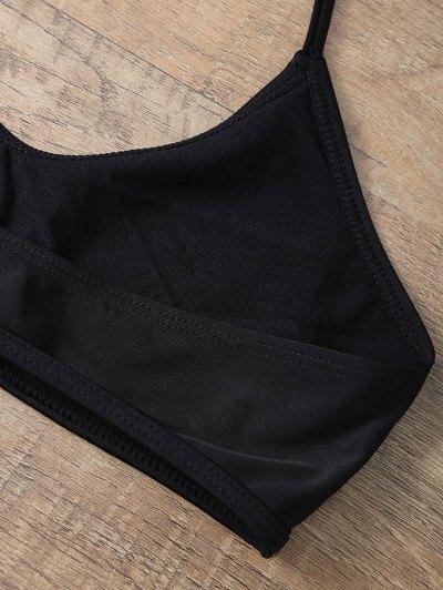 Casual Cutout Bikini Set - BLACK S Mobile