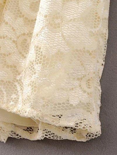 Lace V Neck Dress - PALOMINO L Mobile
