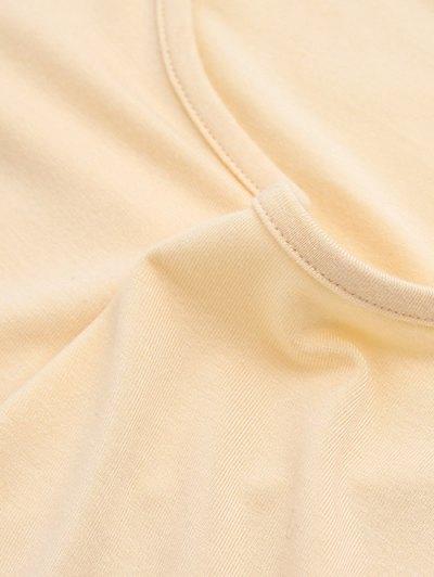 Cold Shoulder Crop Tee - PALE PINKISH GREY M Mobile