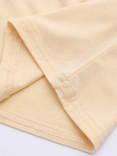 Cold Shoulder Crop Tee - PALE PINKISH GREY S Mobile