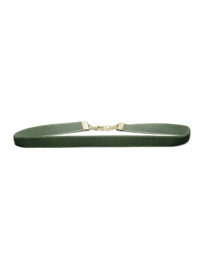 Adorn Velvet Choker Necklace Set - COLORMIX  Mobile