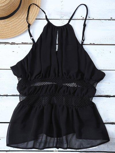 Mesh Panel Camisole - BLACK M Mobile