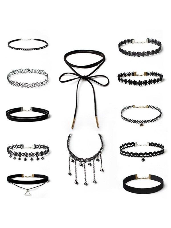 Star Flower Geometric Choker Necklace Set